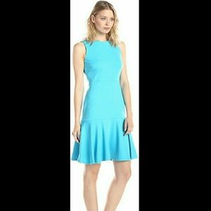 NWT Ivanka Trump Aqua Ponte Dress